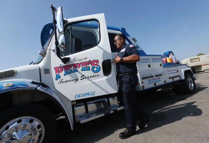 Pepe's Towing Service Truck